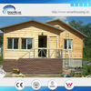 Wooden Cladding Steel Structure wooden house bungalow