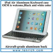 LBK177 Bluetooth Wireless Aluminum Keyboard Case Cover for iPad Air iPad 5