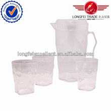 2500ML wholesale 5pcs set clear plastic pink&blue water pitcher / juice bottle / cooler jug / kettle / dispenser