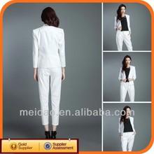 2014 Fashion White Ladies Cheap Women Suit Set Elegant