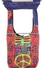 Tie Dye teen canvas shoulder bags, Indian Hippie Bags for girls