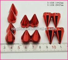 fashion red ccb UV paiting Rivet bag accessories women cap accessories