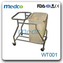 WT001 medical rubbish trolley for hospital use dressing trolley