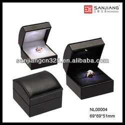 Unique wedding ring box for wholesale custom velvet jewelry box