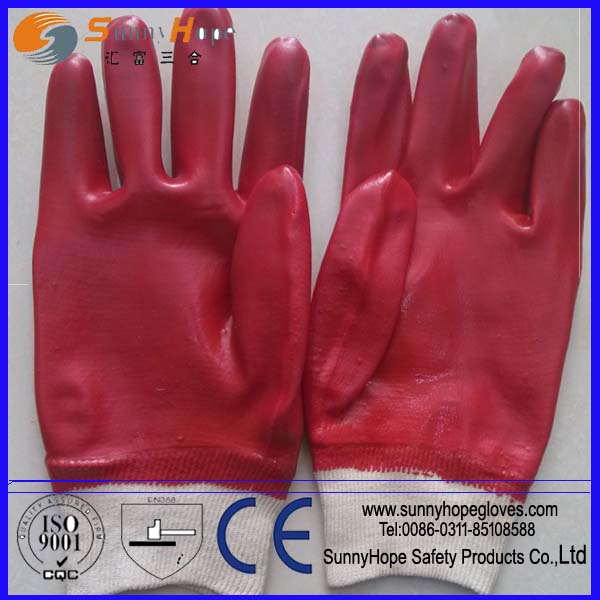 PVC coated interlock lined oil & chemical resistant glove