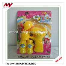 Take Two Bottles of Bubble Water Rubber Duck B/O Blow Bubble Gun