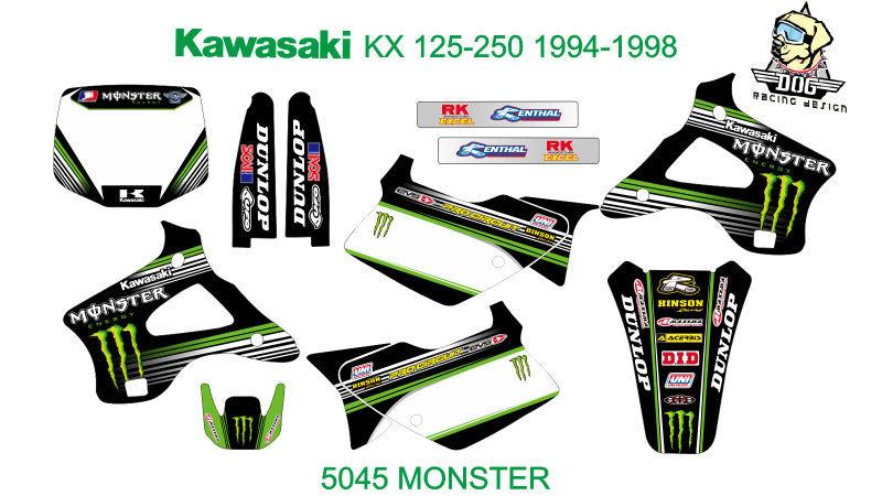 Stickers 125 kx Kawasaki kx 125-250 1994-1998