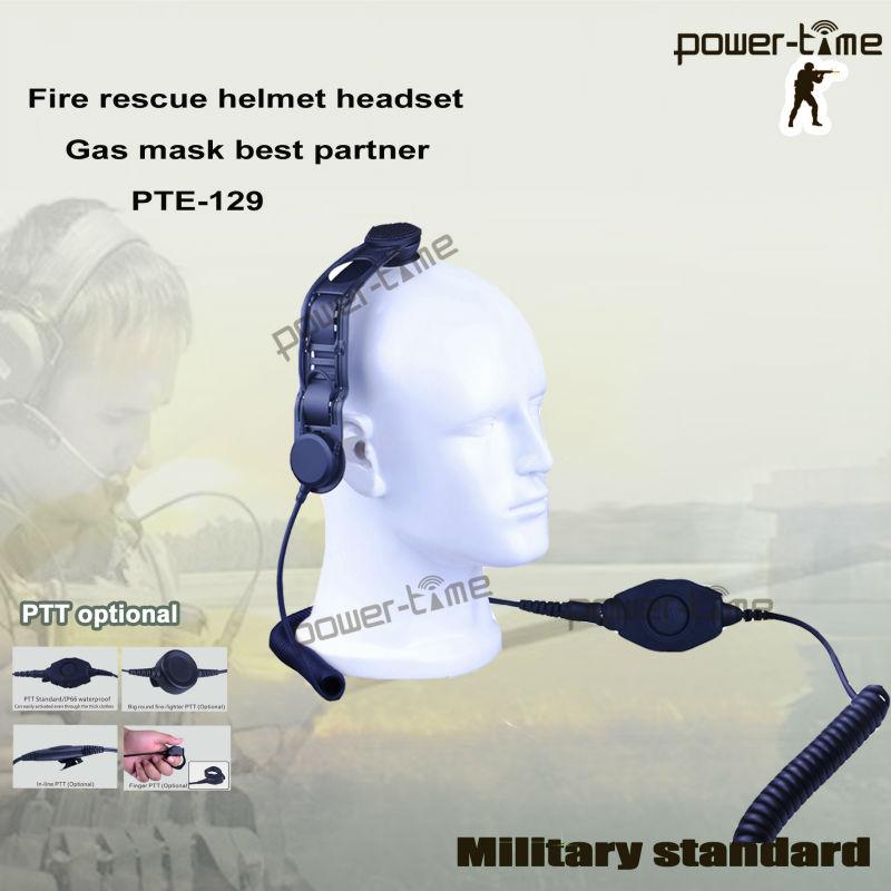Uk/prc-351/2 Army Radio Skull Bone Conduction Headset Pte-129 ...