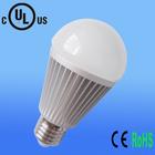 UL CE ROHS aluminium alloy +PC Epistar COB chip 100lm/w dimmable e27 high hat led bulb