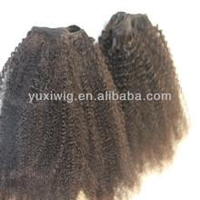 looking 100% brazilian human hair weave( kinky curly hair extension)