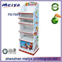 new design 5-tier cardboard display stand for kid products
