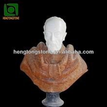 Marble Old Man Head Sculpture