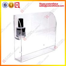 Wall mount clear acrylic cosmetic display shelf