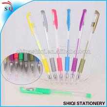 common colored glitter gel ink pen