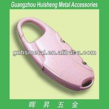 High quality metal fashion handbag number lock