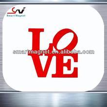 Fashion personalized waterproof pvc flexible magnet docuration LOVE car magnet