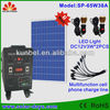 Multi-functional 65W home use solar pv power system
