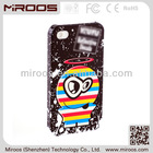 custom oem colorful pc mobile phone case for iphone 4 4s