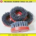Wsd-ec27 abrasivo de diamante fiodeaçoinoxidável disco de polimento escovas copo