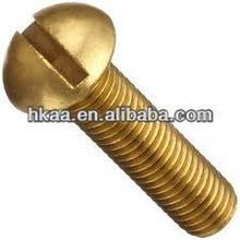 Brass round head slot type screws