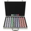 1000pcs Suited 11.5g Poker Chip Set with Aluminum Case