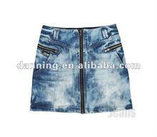 ladiy women short denim skirt jeans