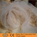 Fleur brodé sur organza rideau tissu à Shaoxing