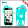 New product fasdhion Rabbit 3D silicone Case for apple iphone 5 5S. for iphone 5S case China manufacturer