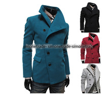 Men's Warm Fitted winter trench coats Thicken Lapel Coat Jacket