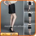 2014 moda negro para mujer más el tamaño barata de las mujeres faldas plisadas