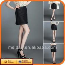 2014 Fashion Black Ladies Plus Size Womens Cheap Pleated Skirts