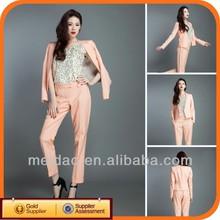 2013 Fashion Ladies Pink Cheap Women Uniform Suit Office