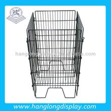 Home or garden metal corner storage basket