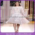 Sa-q885 2014 zuhai murad mangas largas musulmán vestidos de noche apliques vestidos de blanco para las mujeres