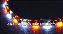 smd 335 dual color strip led for car light eyebrow tears light