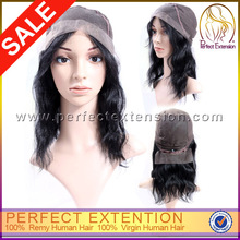 12 Inch #2 Yaki Bob Style All Hand Made Human Hair Swiss Full German Lace Wig