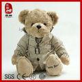 gefüllte weiche teddybär display tragen spielzeug für kinder plüsch jacke tragen