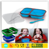 wholesale 2 compartments collapsible silicone lunch box