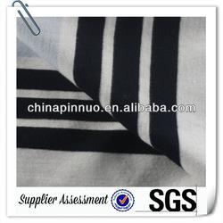 Blue and White Stripe 100 polyester single jersey fabrics