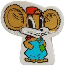 De dibujos animados de plástico goma de borrar en forma animal o el diseño personalizado