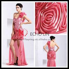 Sexy une- épaule de mode paillettes 2013 robes de bal robe de haute et basse