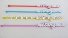 colorful custom acrylic swizzle stick