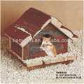 Multifuncional naturaleza de madera hámster jaula y la casa y hogar