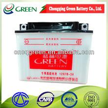12N7B-3A lead acid motorcycle battery/street bike Wholesales 12V 7AH
