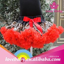 2014 Wholesale Baby Girls Zebra Halloween satin pettiskirt