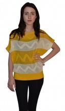 Yellow Burnywood Modified Scoop Neck Sweater