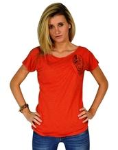 The Junior Sized Orange Sparkly Bow T-Shirt