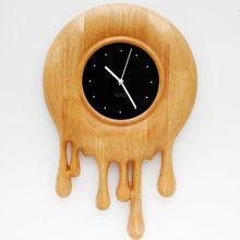 DM-13 Melted Time Modern Design Art Wall Clock Wooden Clock