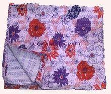 Jaipuri Flower Print Bed Sheet