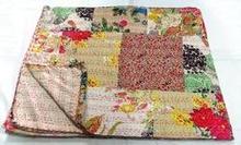 Patch Theme Kantha Bed Sheet